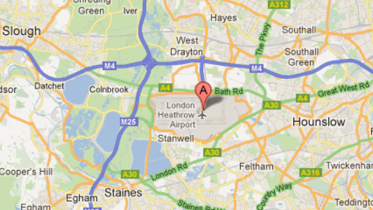 Heathrow Airport Car Hire Location